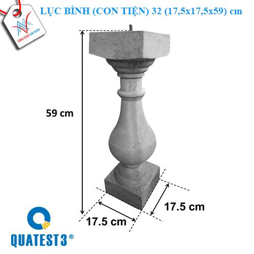 Lục bình (con tiện) 32 (17.5x17.5x59 cm)