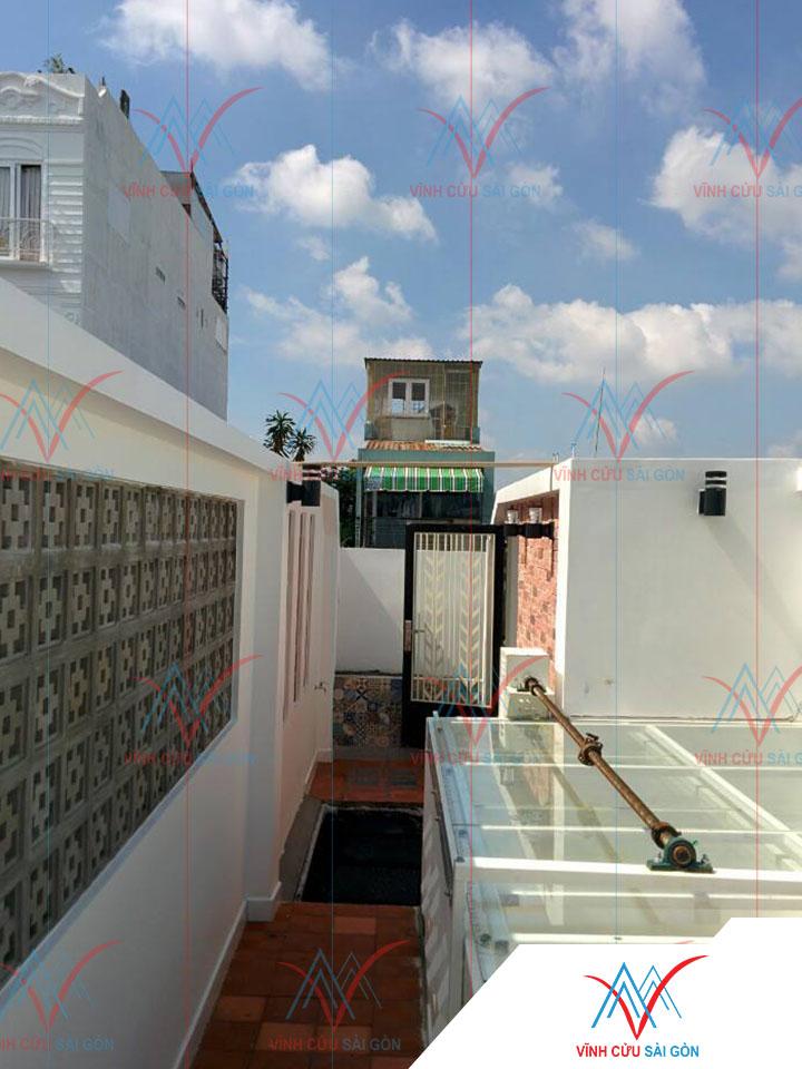 Công trình thực tế sử dụng gạch bông gió mỹ thuật VCB-006 xi măng (190x190x65 mm)-3