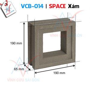 Gạch bông gió mỹ thuật VCB-014 xi măng (190x190x65 mm)