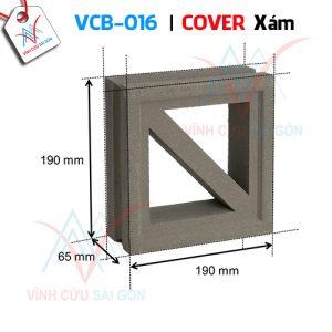 Gạch bông gió mỹ thuật VCB-016 xi măng (190x190x65 mm)