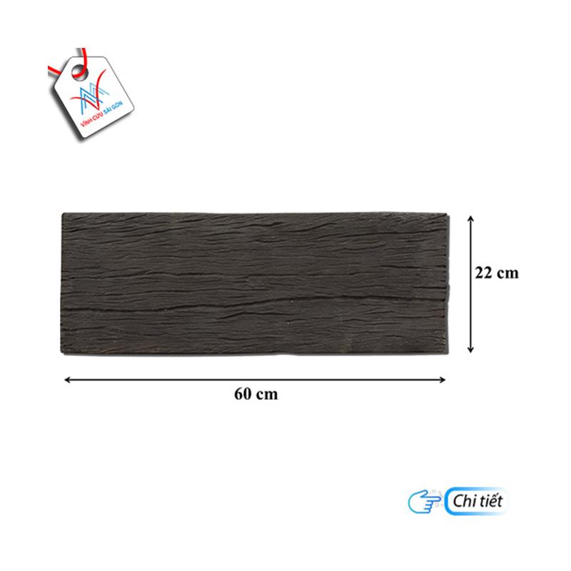 Giả gỗ B12 (60x22x4cm) đen