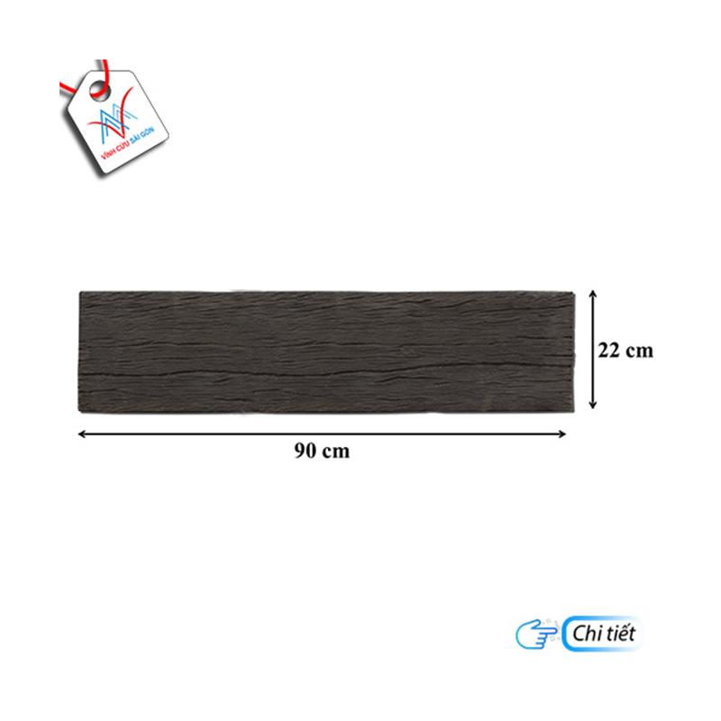 Bê tông giả gỗ - B13 (90x22x4cm) màu Đen