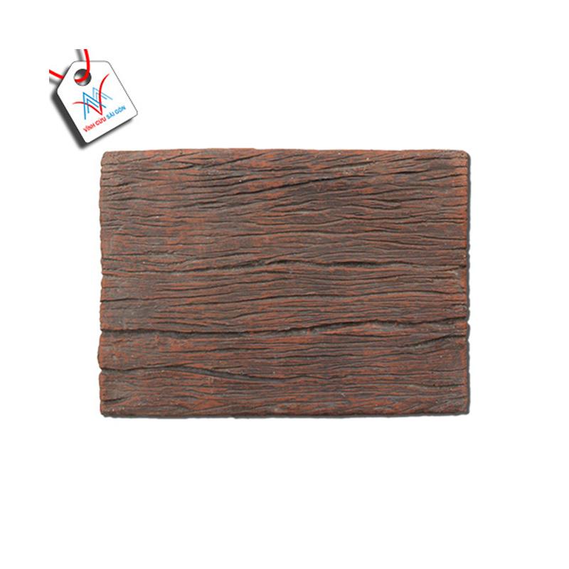 Bê tông giả gỗ - B11 (30x22x4cm) màu Đen Nâu