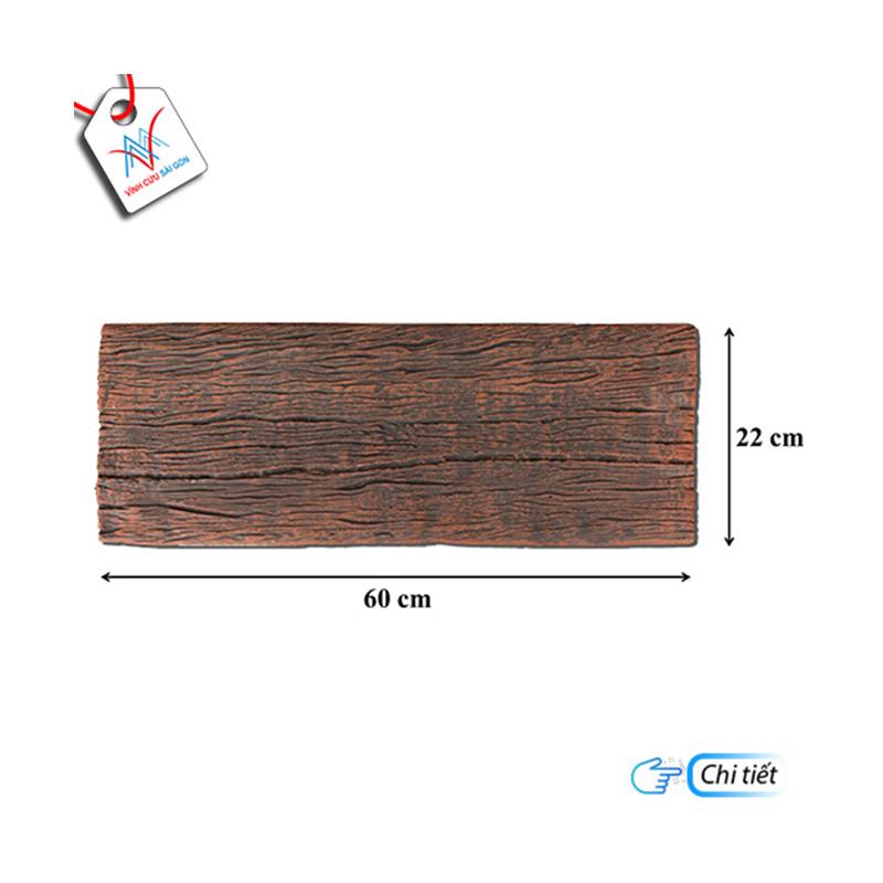 Bê tông giả gỗ - B12 (60x22x4cm) màu Đen Nâu