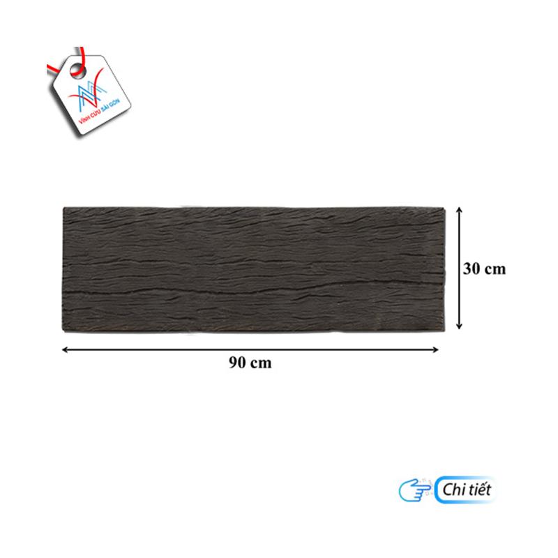 Bê tông giả gỗ - B13 (90x30x4cm) màu Đen