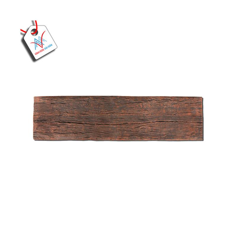 Bê tông giả gỗ - B13 (90x22x4cm) màu Đen Nâu
