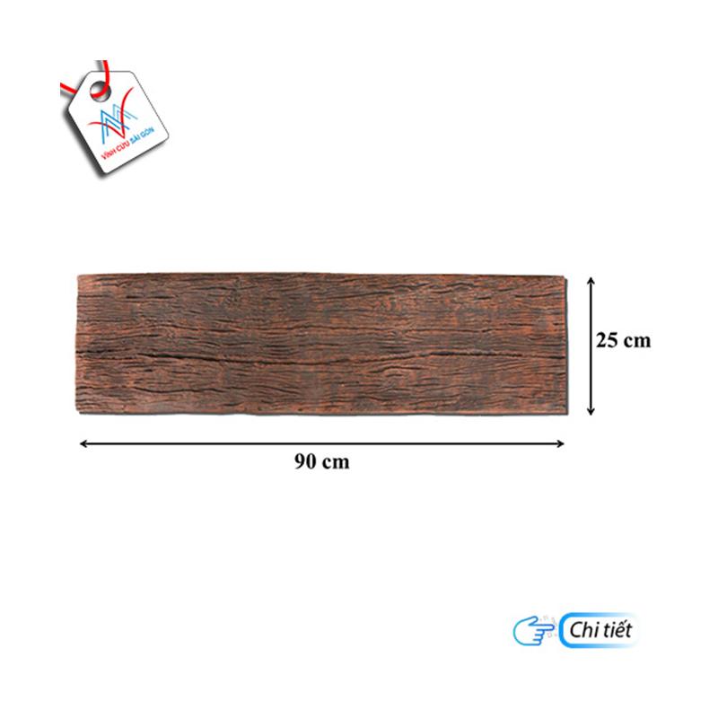 Bê tông giả gỗ - B13 (90x25x4cm) màu Đen Nâu