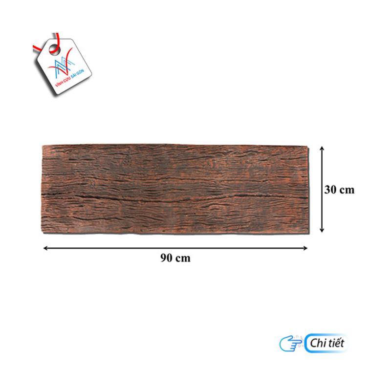 Bê tông giả gỗ - B13 (90x30x4cm) màu Đen Nâu