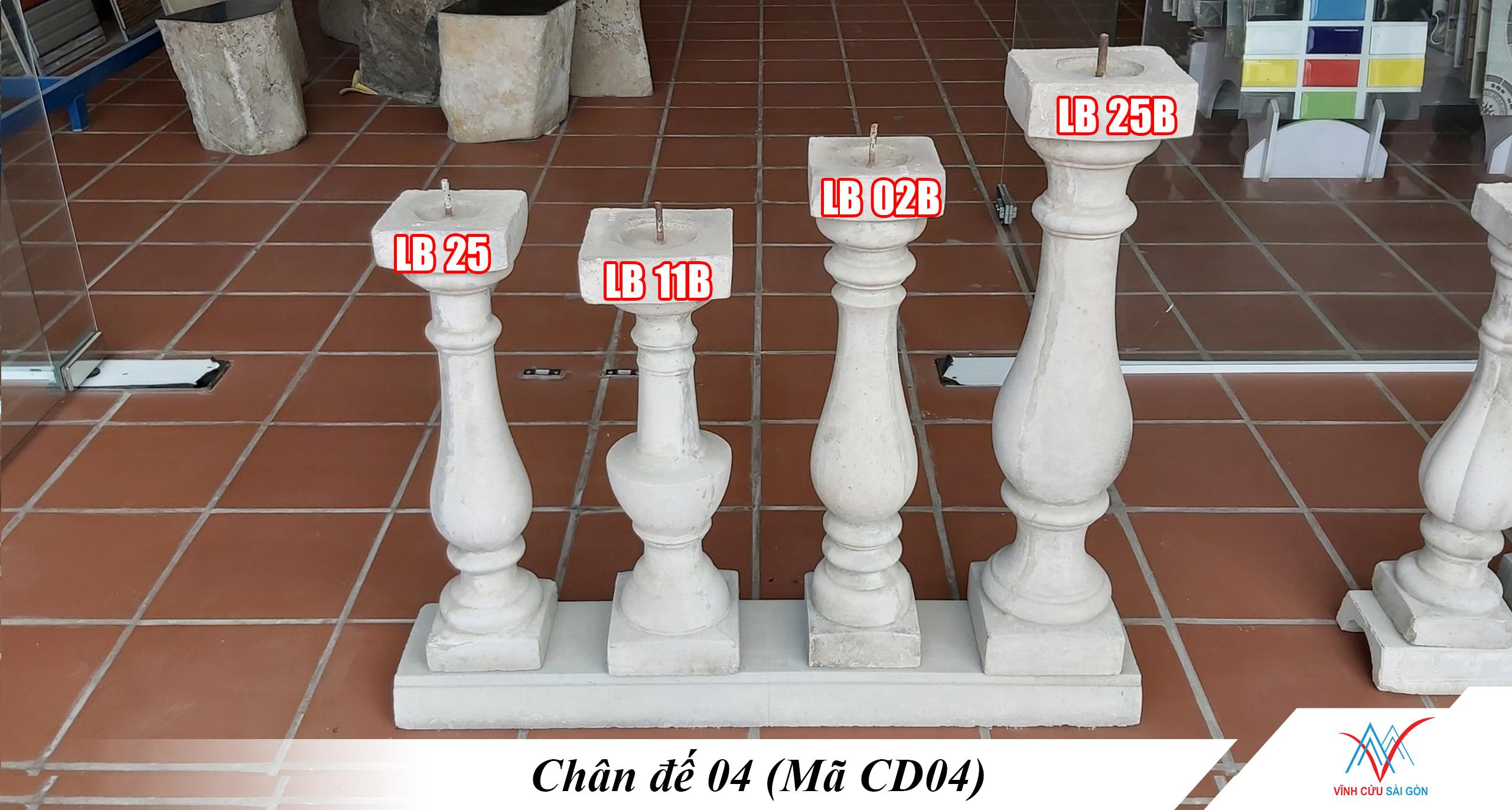 Hình ảnh thực tế của Chân đế 04 (Mã CD04)