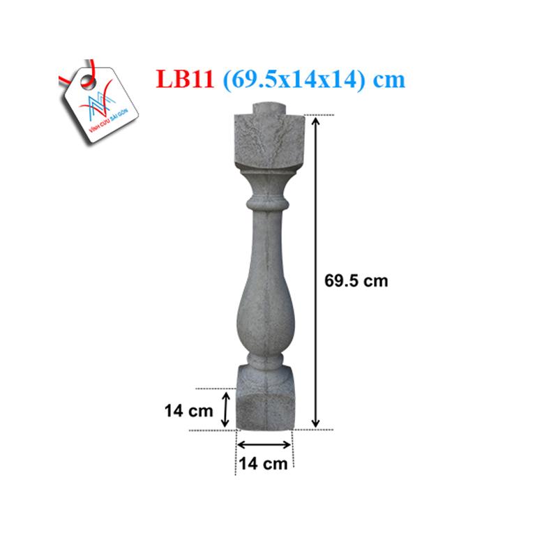 Lục bình bầu trơn 70 - LB11 (69,5x14x14 cm)