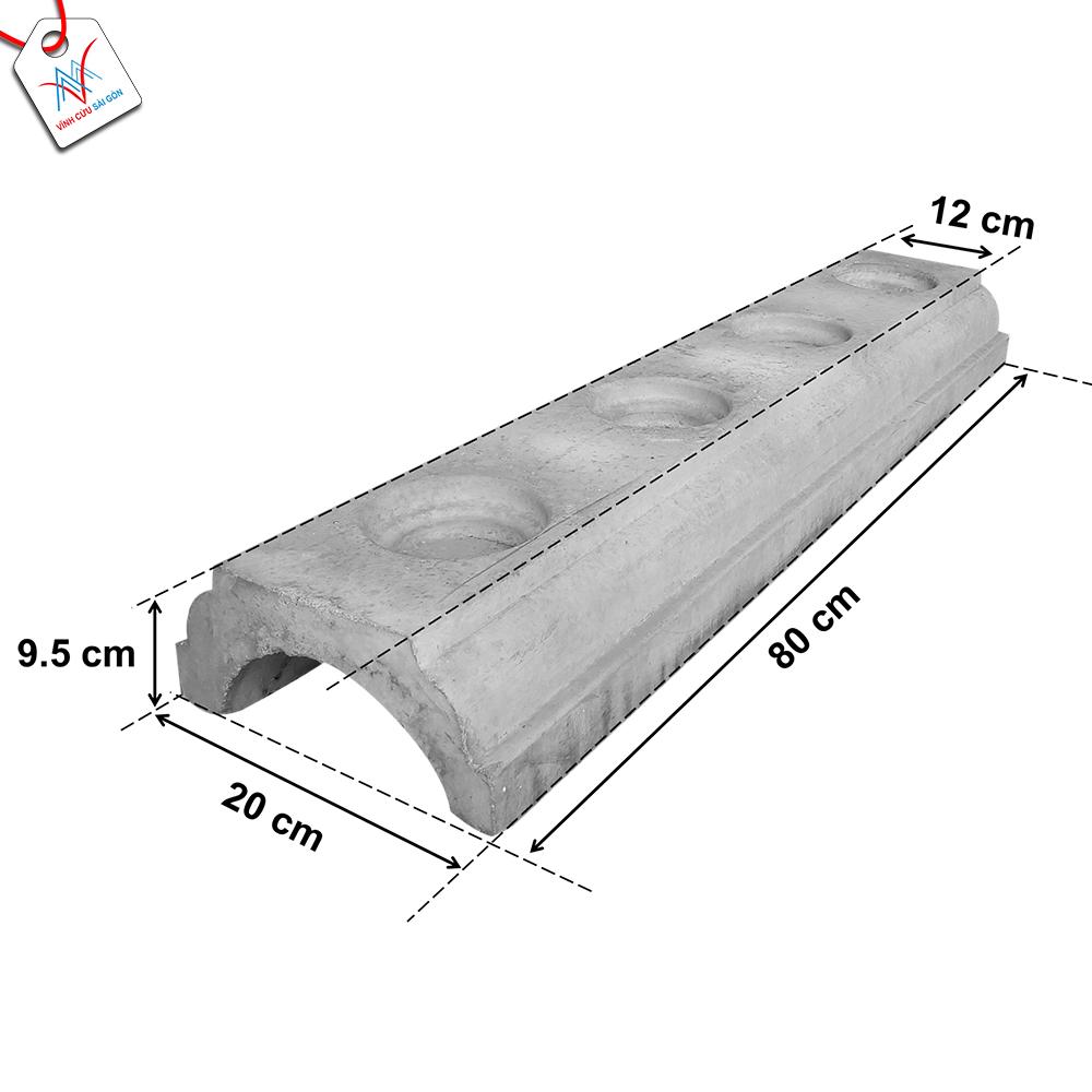 Kích thước của Chân đế lục bình 12cm trơn.
