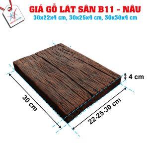 Giả gỗ B11 (30x30x4cm) đen nâu