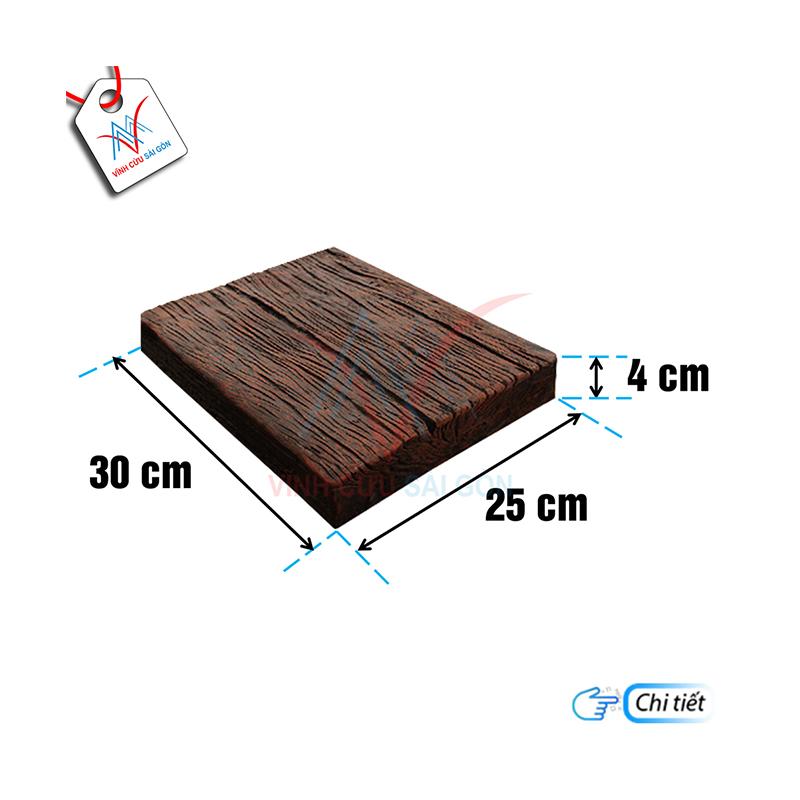 Bê tông giả gỗ B11 Đen nâu