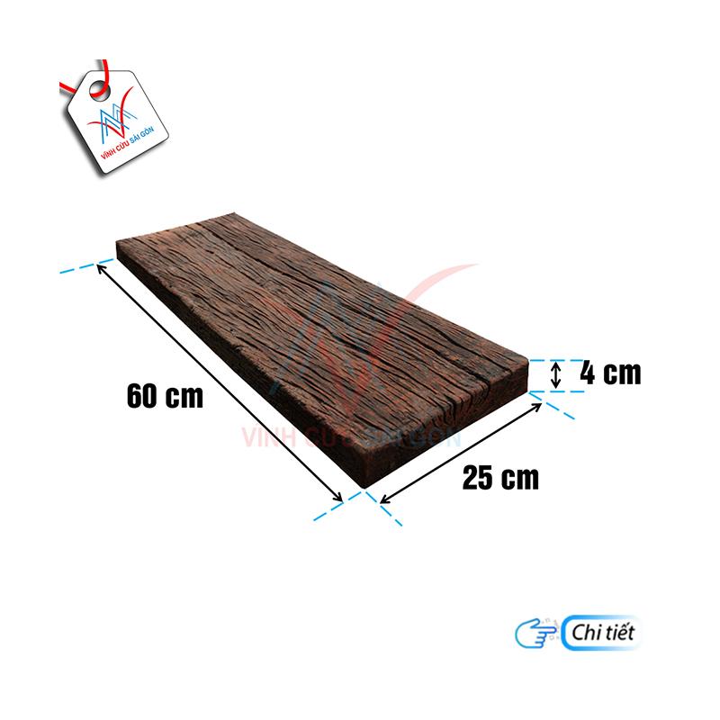 Bê tông giả gỗ B12 Đen nâu