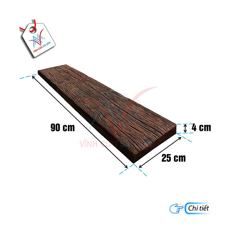 Bê tông giả gỗ B13 Đen nâu